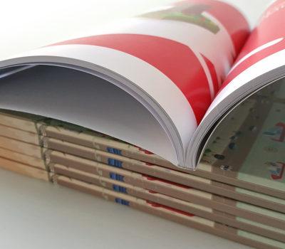 Печать книг — 84 полосы на каландрированной бумаге 120 G, обложка на мелованной бумаге 250 G с тонкой матовой ламинацией (тираж 50). Стоимость аналогичной работы — 37300 руб.