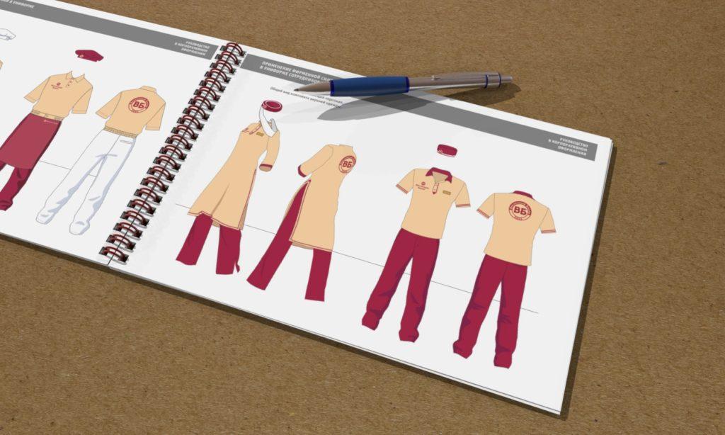 Визуализация страницы бренд-бука с формой работников ресторана для Восточного Базара