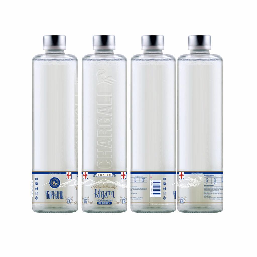Дизайн и верстка этикетки на премиальную воду