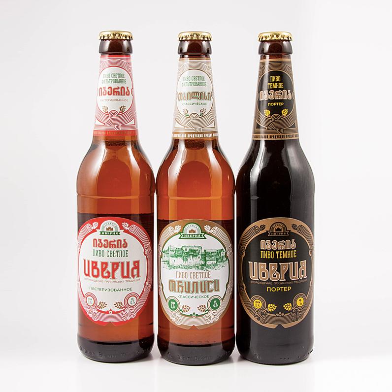"""Разработка айдентики, дизайн, верстка этикетки, предтираж, технические фотографии этикетки на пиво """"Иверия"""""""