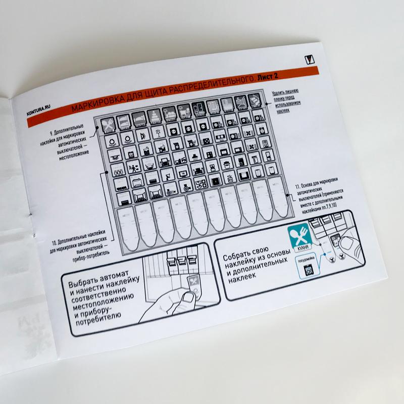 Набор стикеров для маркировки электрощита в квартире